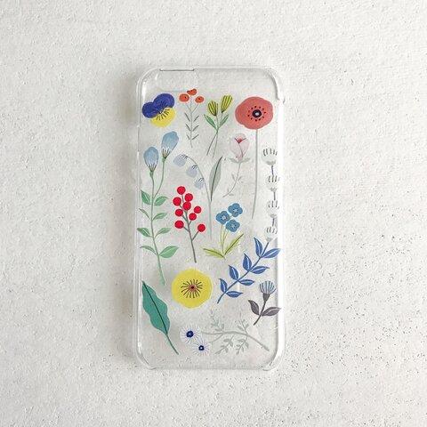 """〈送料無料〉iPhoneケース """"bloom bloom bloom"""" クリア"""
