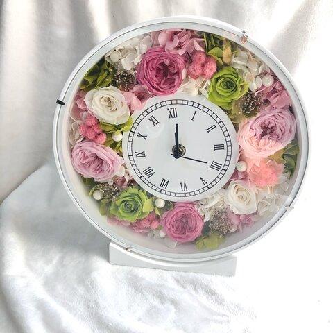 ハーバリウム☆ブリザーブドフラワーの花時計☆ウエディング☆プレゼントに☆