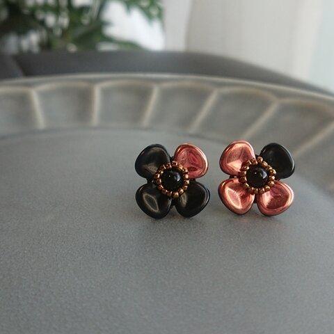 花 黒×ピンク系 大人かわいい ハナミズキ