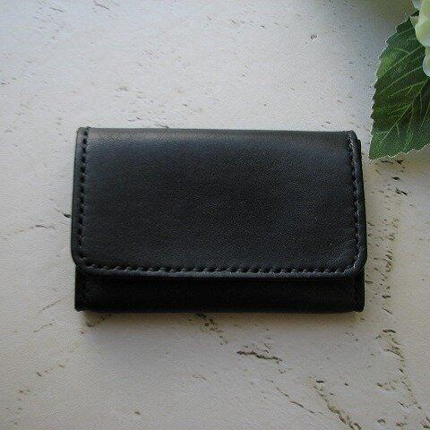牛ヌメ革の名刺入れ(カードケース) ブラック