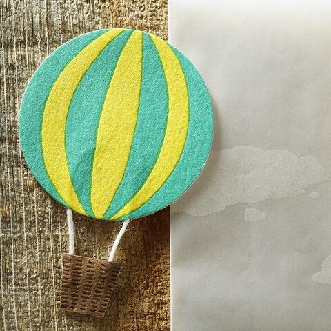 活版印刷 気球のメッセージカードhope 雲の封筒付き