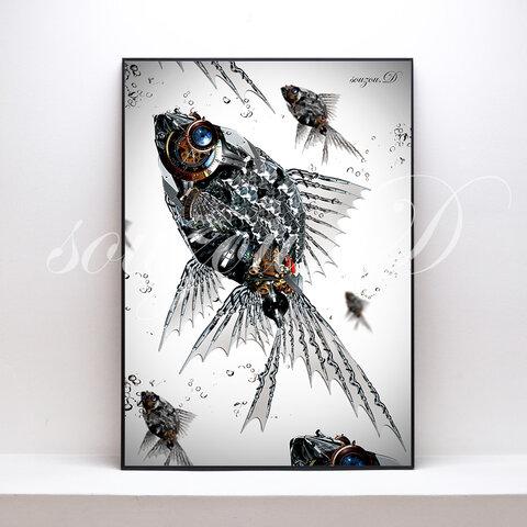 A3グラフィックアートポスター「fish02」