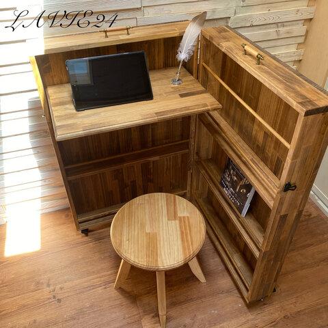 北欧 デザイン 折り畳み テーブルカウンターA / おしゃれ/テレワークデスク/キャンプ/アウトドア