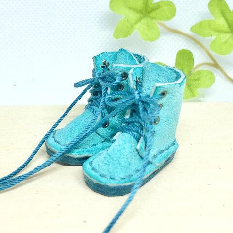 革細工  ミニチュアロングブーツ ヌバック miniature boots.