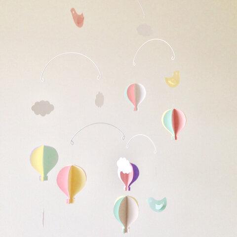 ゆらゆら モビール パステル気球special +コトリさん