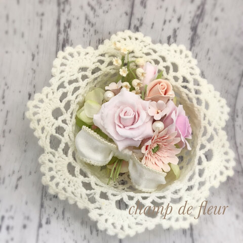 (送料特別価格)ガーベラと薔薇の壁掛け♡