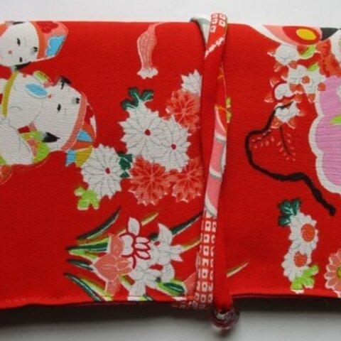 5877 女の子の着物で作った和風財布・ポーチ#送料無料