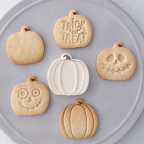 【ハロウィン】NEWかぼちゃ(大) クッキー型(線スタンプ付き)