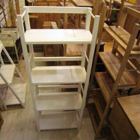 簡単折り畳み式BOOKシエルフ(本棚)道具無しで折り畳み出来る飾り棚シリーズ シンプルトップミルキーホワイト