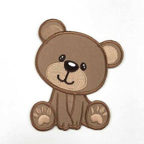 おすわりくま【大きい】アップリケ (PM-Baby Bear)