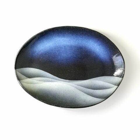 【陶器】プレート皿 -雲海-(中)
