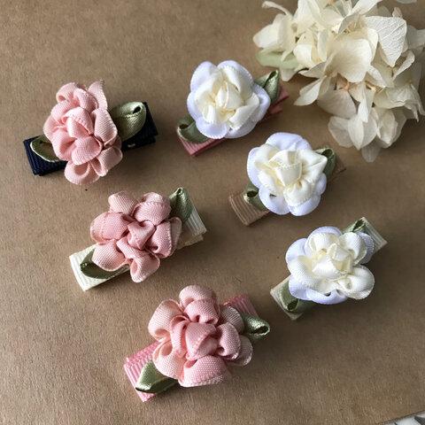 送料込♡2つセット選べるお花のベビーヘアクリップ