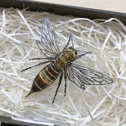✴︎昆虫シリーズ✴︎ ハチ  earthブローチ ver.2