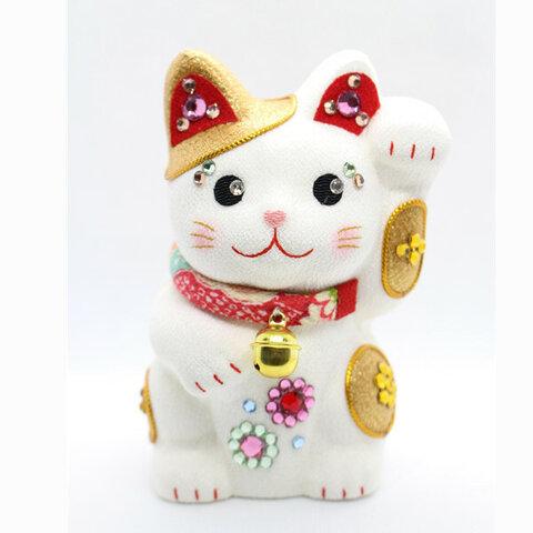 招き猫 co-0010 置物 きらきら 金色 インテリア 和雑貨 ちりめん手づくり