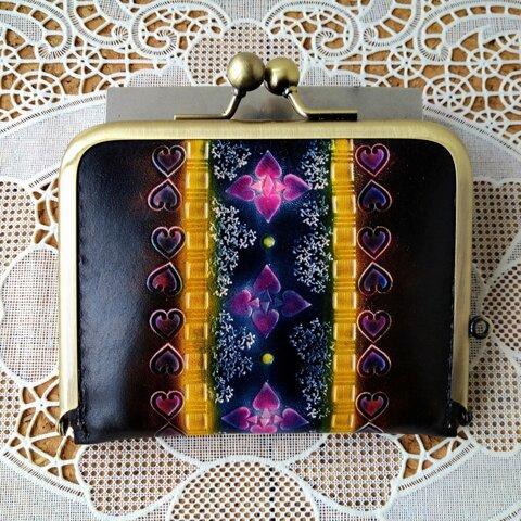 スペードとハートのレトロなスリム財布