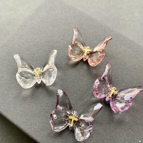 水晶蝶の耳飾り
