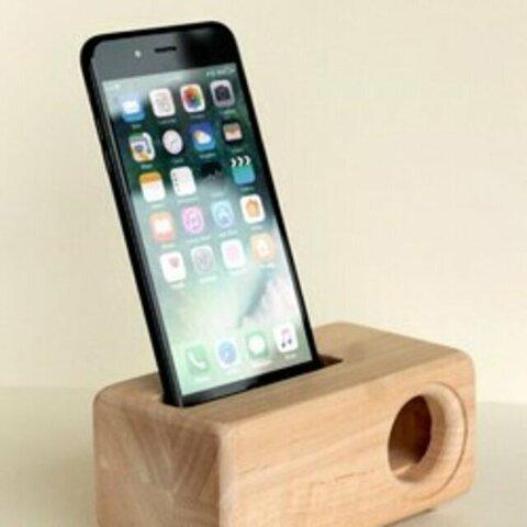 木製iPhoneスピーカー 12シリーズ用Acoustic iPhoneWoodSpeaker