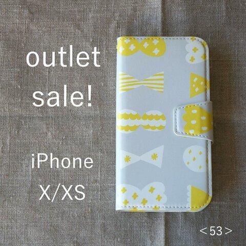 【 outlet sale ! 】iPhoneX/XS *帯あり手帳型*スマホケース<53>