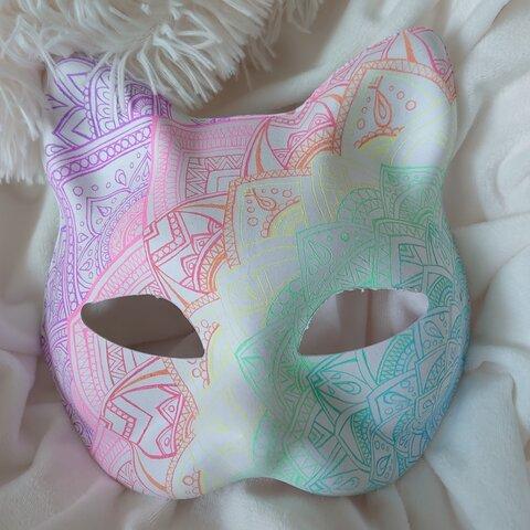 ゜。猫の仮面。゜手描き。゜