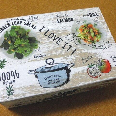 木製小物入れ ジュエリーボックス クッキング 料理 サラダ