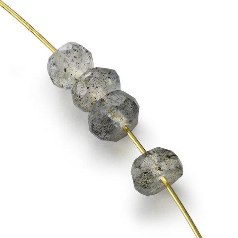 15粒売り 宝石質ラブラドライトAAA ボタンカット3×3×2mm