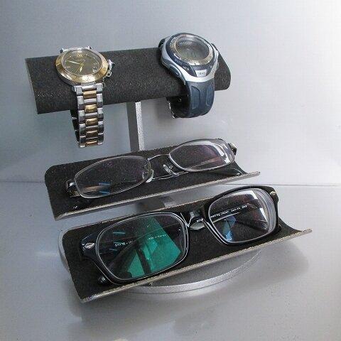 新作 だ円パイプ腕時計2本掛け、メガネ2本トレイスタンド 2019-3-9