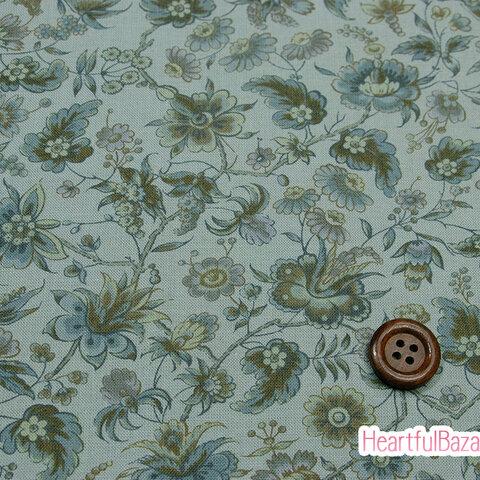 USAコットン moda Regency Somerset Blues ウェリントン パルマグレイ 生地 布 花柄