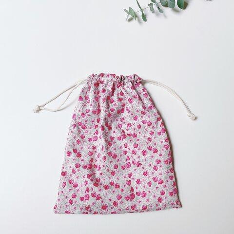 ◇4サイズ◇ リバティ   アシュテッド🍓06カラー   巾着袋 / 選べるワッペン♦