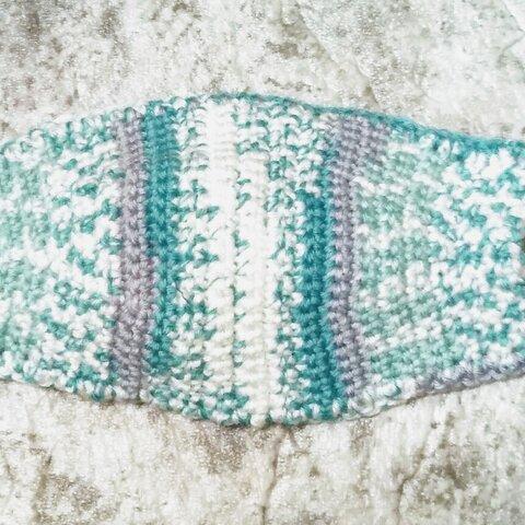 手編みのカバーマスク