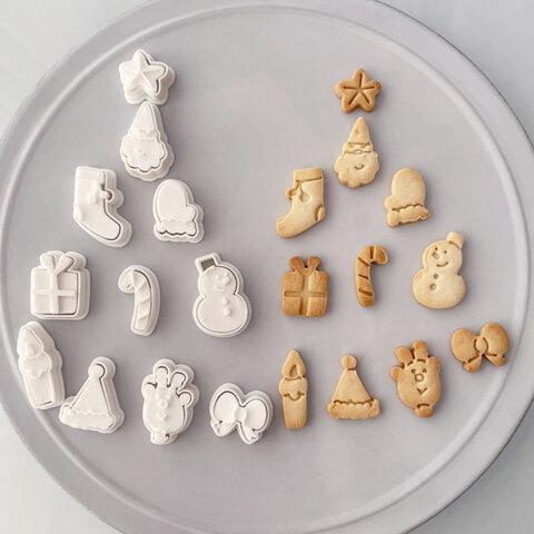 【クリスマス】アイコンミニミニ(2~2.5㎝)選べる5個セット クッキー型(スタンプ付き)
