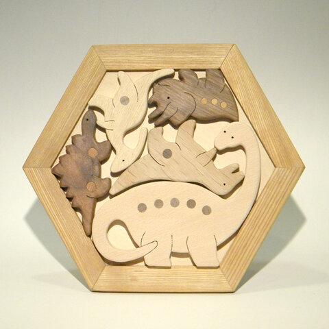 木のパズル 恐竜 B いろんな木を集めて
