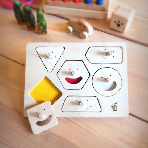 【1歳のお誕生日に】スマイルとって付きパズル