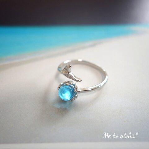 ё 人魚の雫  リング 指輪 シルバー 海 夏 ブルー