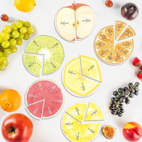 フルーツの分数パズル&ポスター
