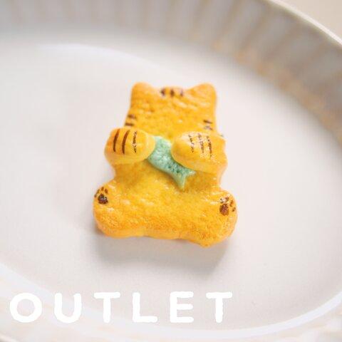 【アウトレット】ぬこクッキーのブローチ