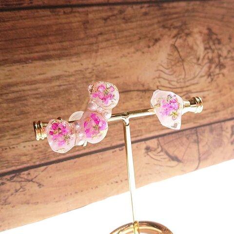 春色イヤーカフ*pink*