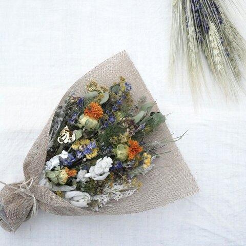 北海道からのタッジーマッジー(ハーブと香りの花束)ガーデンポプリ付 ドライフラワースワッグ