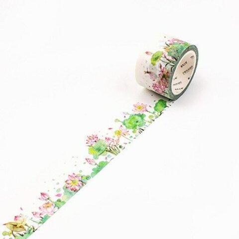 「清らかな心」美しい蓮 睡蓮のマスキングテープ
