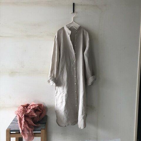 [秋支度]秋のお出掛けSET ロングシャツ&ストール リネン100%