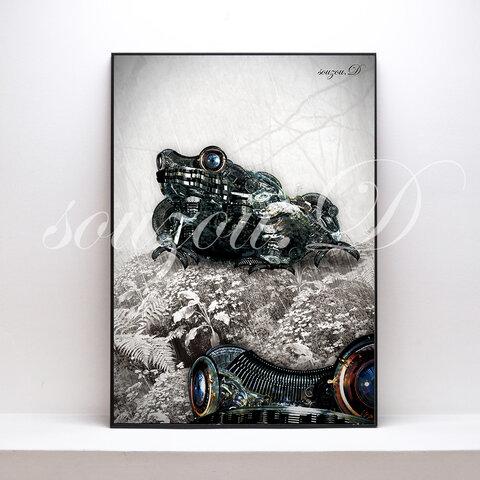 A3グラフィックアートポスター「flog02」
