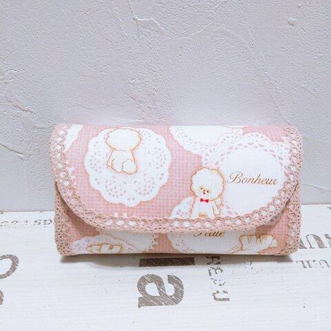 ビションフリーゼ♡ミニ財布(ピンク)
