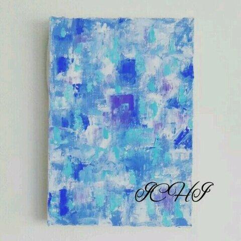 油絵  抽象画 Blue
