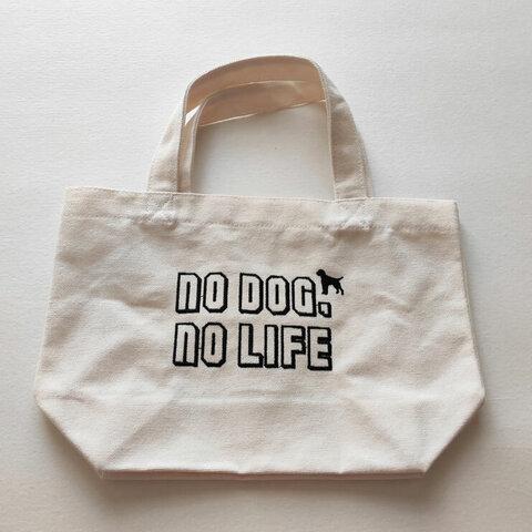 刺繍トートバッグ NO DOGDOG,NO LIFE