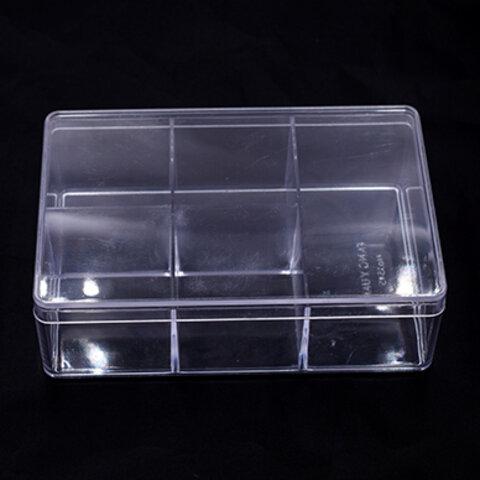 T084 3個  アクセサリーケース 長方形 10×15×4.5cm クリア※ネコポス不可  3×【1ヶ】