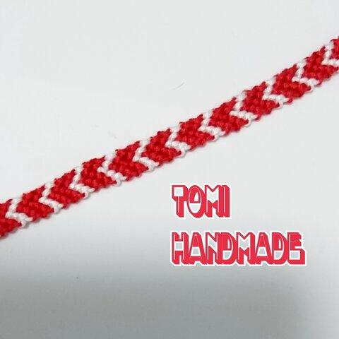 ◆再販【広島カープカラー】 ミサンガ アンクレット 赤×白