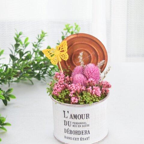 ナチュラル フラワーアレンジ【ピンク】/プリザーブドフラワー  花  自然 ドライフラワー  癒し  天然素材 誕生日 プレゼント ナチュラル ガーデン フラワーギフト