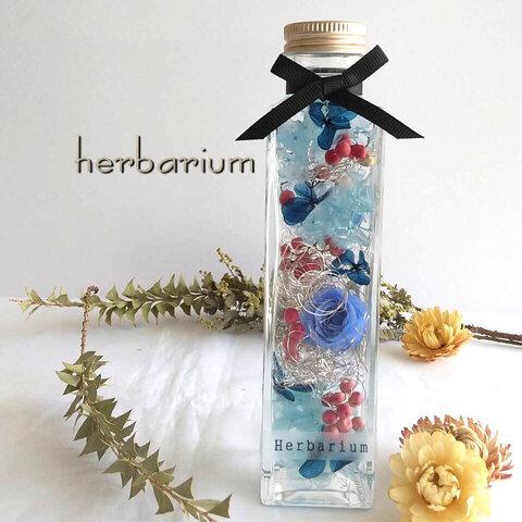 爽やかブルーローズ ハーバリウム   ~夏インテリア~ プレゼント  お祝い    花 ギフト