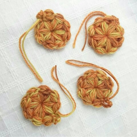 オレンジお花のガーランド 8個セット