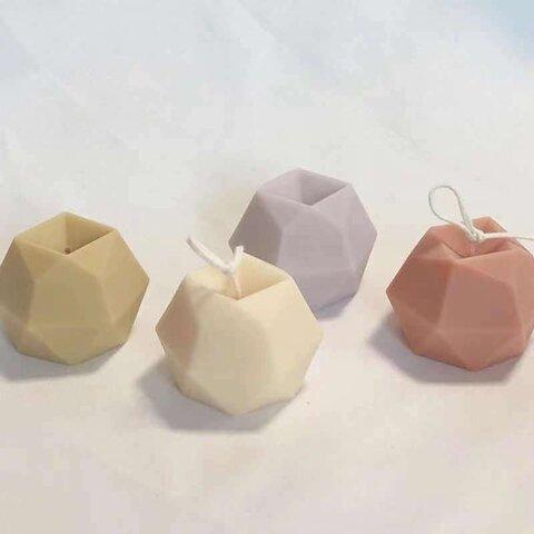 1p Nart Candle (8個入れ)幾何風ダイヤモンド切断面のモールド シリコンモールド キャンドルモールド ダイヤモンド形