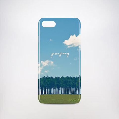 【送料・名入れ無料】フォレストブルー iPhone Android対応 名入れ対応 空 森 自然